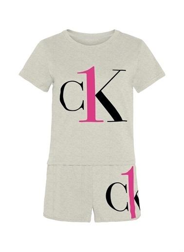 Calvin Klein Calvin Klein Pijama Şort Takım Gri